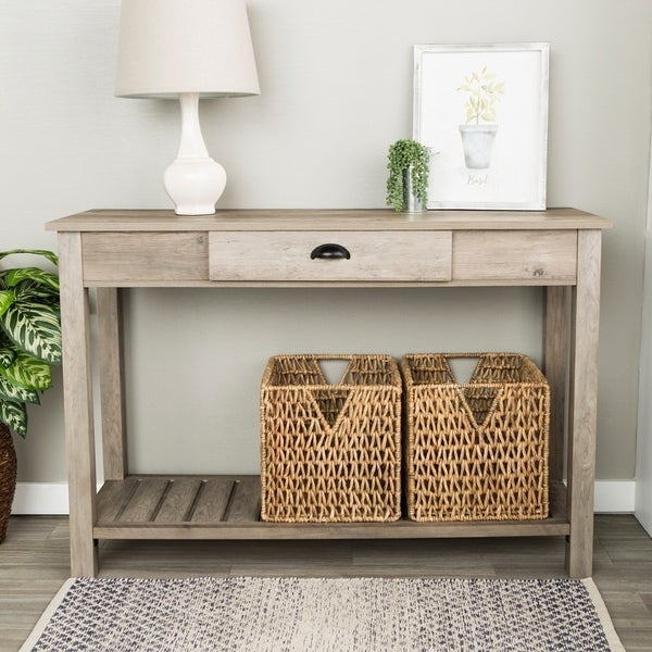 Perfect 48 Inch Country Style Entry Console Table