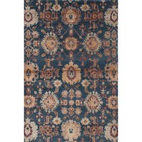 ecarpetgallery La Seda Green Wool, Art Silk Rug - 5'9 x 8'9