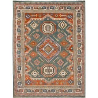 ecarpetgallery Royal Kazak Green Wool Rug (8'11 x 11'11)