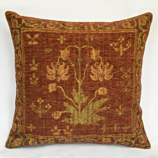 Corona Decor Country Nouveau Flora Red Decorative Throw Pillow