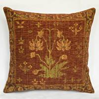 Corona Decor Country Nouveau Flora Red Decorative Throw Pillow