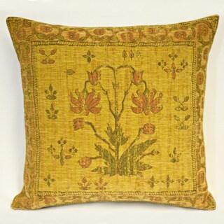 Corona Decor Country Nouveau Flora Gold Decorative Throw Pillow
