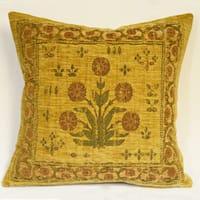 Corona Décor Country Nouveau Flora Gold Decorative Throw Pillow