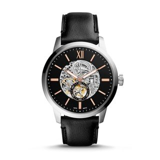 Fossil Men's ME3153 'Townsman' Automatic Black Leather Watch