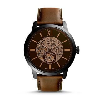 Fossil Men's ME3155 'Townsman' Automatic Brown Leather Watch