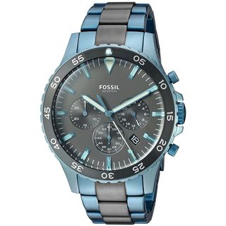 Fossil Women's CH3097 'Crewmaster' Chronograph Two-Tone Stainless Steel Watch