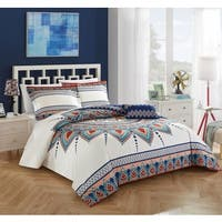 The Curated Nomad Stanyan Reversible 4-piece Duvet Cover Set