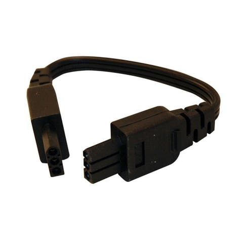 Juno JC3 8IN BL Undercabined Jumper Wire, Black