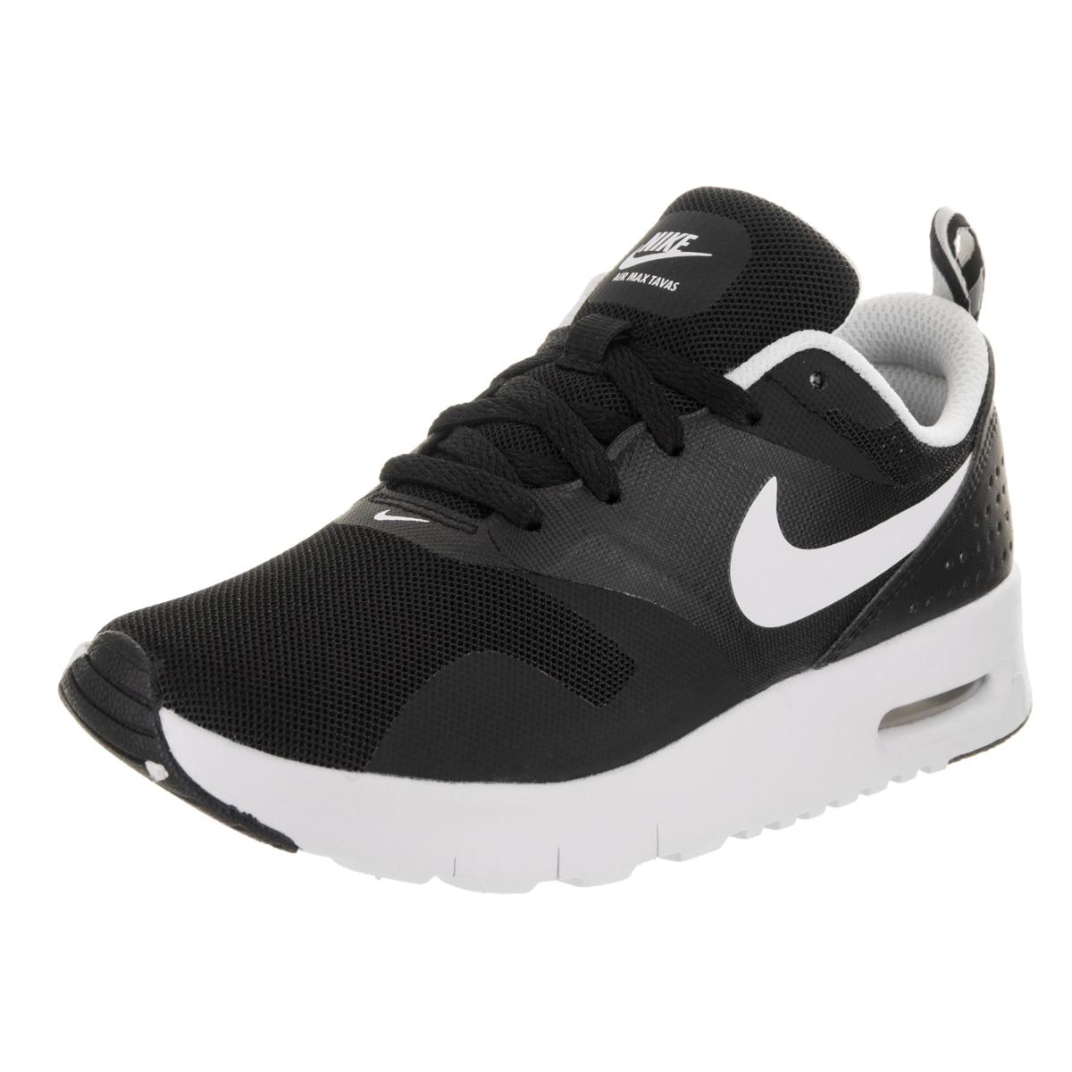 Nike Kids Air Max Tavas (PS) Running Shoe (1), Boy's, Bla...