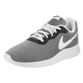 Nike Men's Tanjun SE Black Synthetic Leather Running Shoes