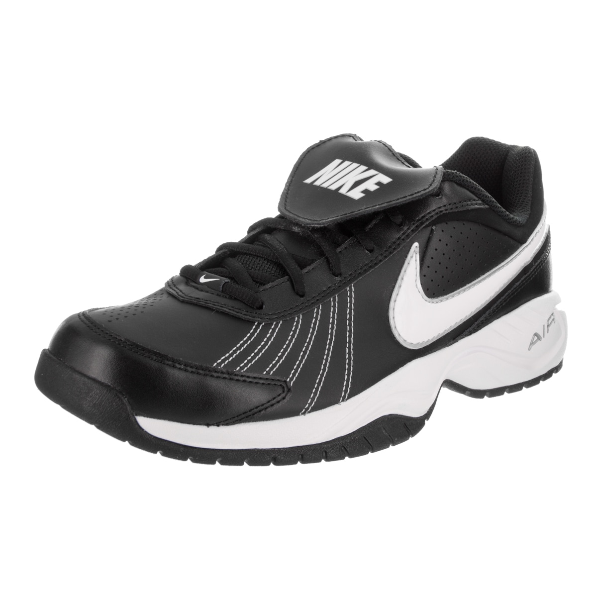 Nike Men's Air Diamond Black Synthetic Leather Trainer Ba...