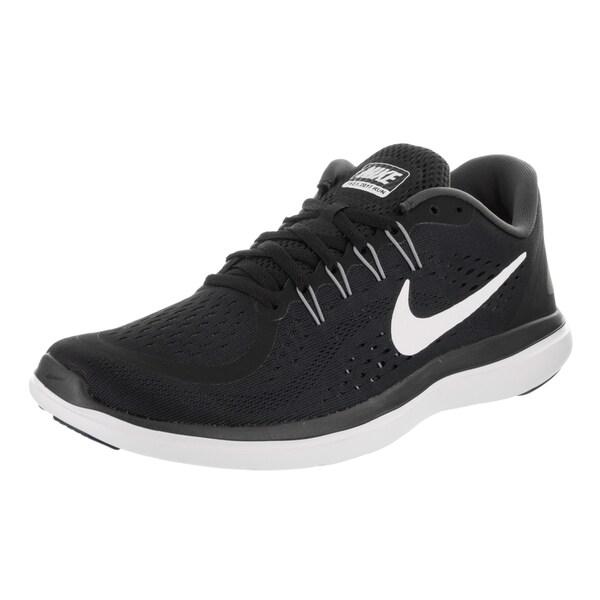 Shop Nike Men's Flex 2017 Black Running Shoes - Free