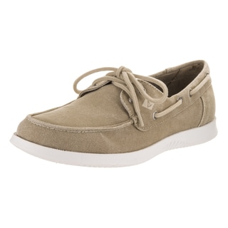 Sperry Top-Sider Men's Defender Grey Canvas 2-Eye Boat Shoes