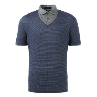 Ermenegildo Zegna Blue Cotton Polo