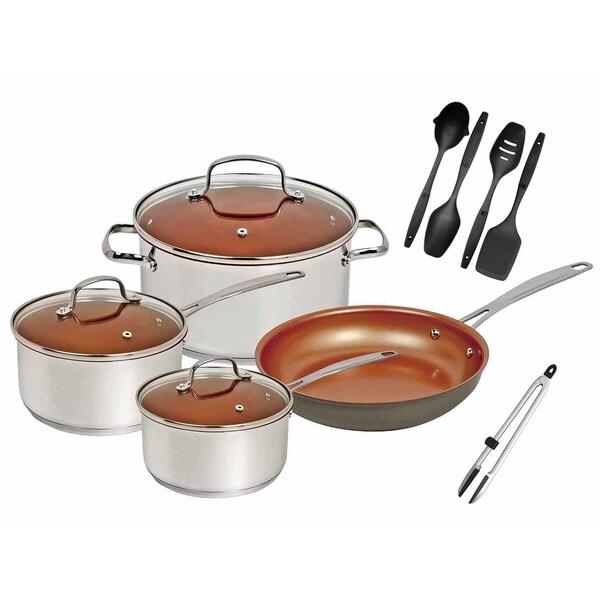 Shop Nuwave Duralon Ceramic Non Stick 7 Piece Cookware Set
