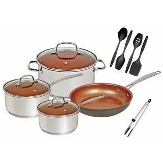 Nuwave Duralon Ceramic Non-Stick 7-Piece Cookware Set with Utensils