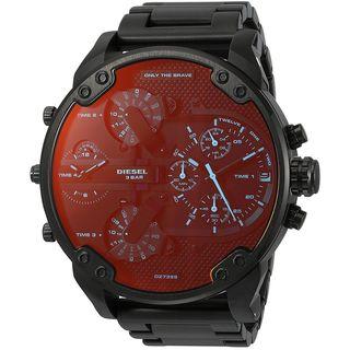 Diesel Men's DZ7395 'Mr. Daddy 2.0' Chronograph 4 Time Zones Black Stainless Steel Watch