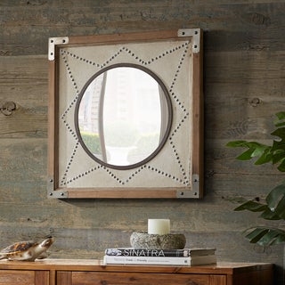 INK+IVY Axel Gold Star Wood Frame Mirror