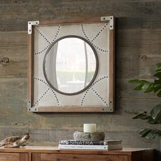 INK+IVY Axel Gold Diamond Wood Frame Mirror