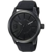 Diesel Men's DZ1807 'Rasp' Black Silicone Watch