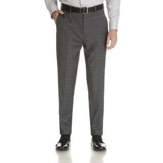 Ben Sherman Men's Plaid Flat Front Suit Separate Pant