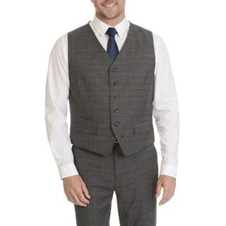 Ben Sherman Men's Plaid Suit Separate Vest
