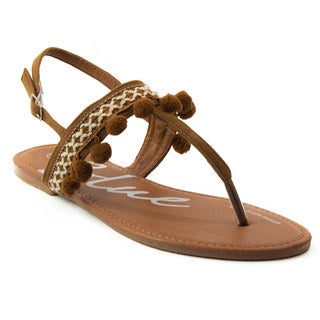 Blue Womens Pommy-4-H Sandals