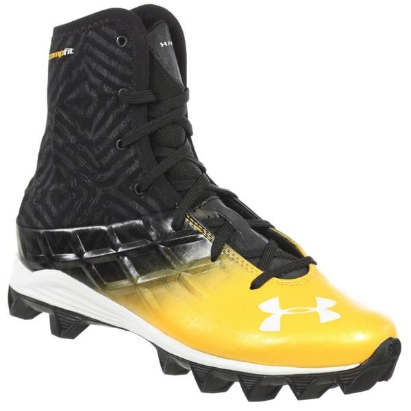 Shop Under Armour Youth Highlight Boys Football Shoes Rm Black Gold