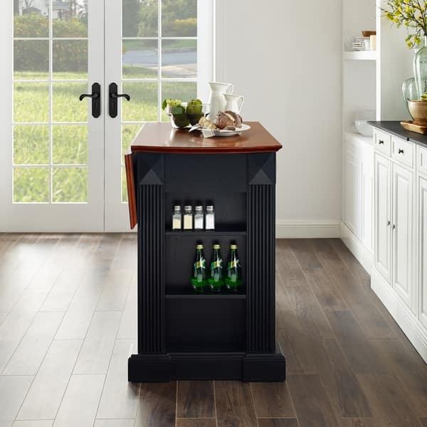 Shop Crosley Furniture Coventry Black Drop Leaf Breakfast Bar Top Kitchen Island On Sale Overstock 16007496