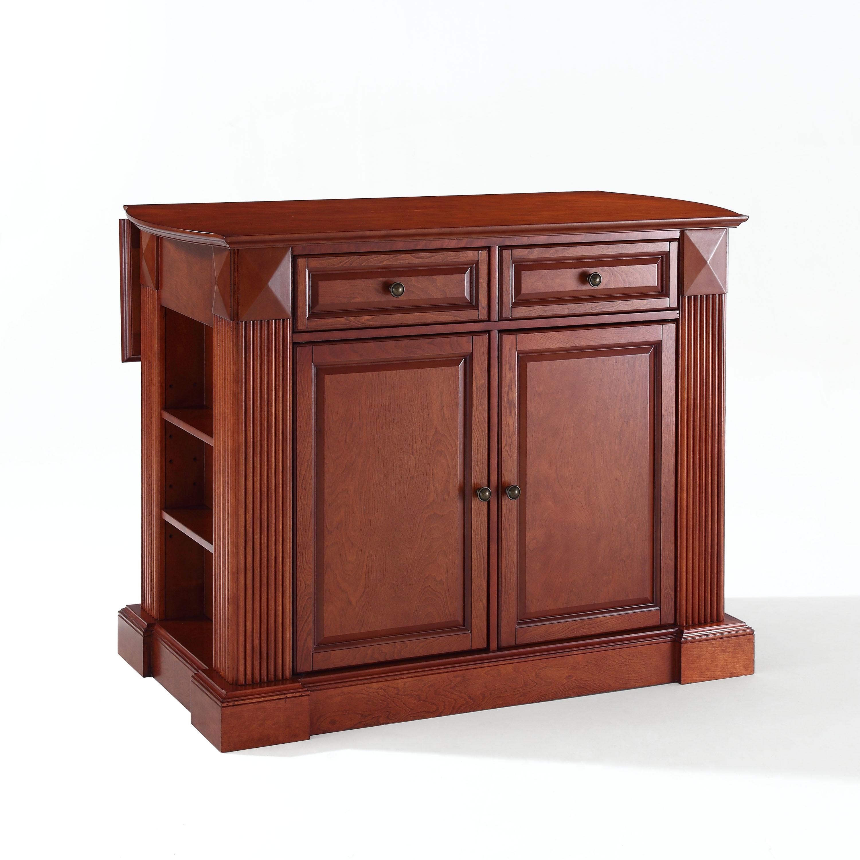 Crosley Furniture Coventry Drop Leaf Breakfast Bar Top Ki...