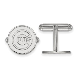 Sterling Silver Chicago Cubs Cuff Link