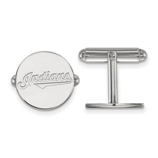 Sterling Silver Cleveland Indians Cuff Link