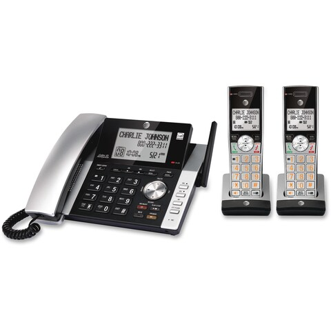 AT&T CL84215 DECT 6.0 1.90 GHz Cordless Phone - Silver