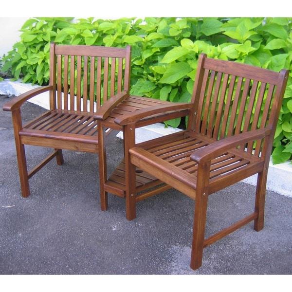 International Caravan Highland Conversation Double-chair and Table