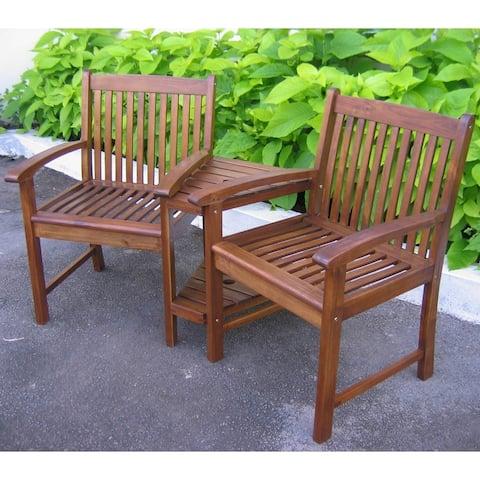 International Caravan Highland Double Patio Conversation Chair