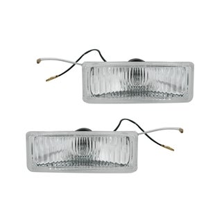 Pilot Automotive Clear 2-piece 12V 55 Rectangular Driving Light Kit PL-2055C