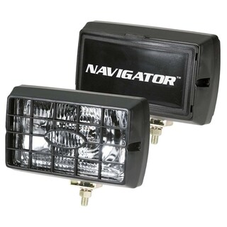Pilot Automotive 4 x 6-inch Clear Navigator Fog Light with Stone Guard and Cover NV-120