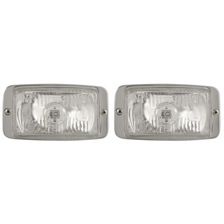 Pilot Automotive Clear 3 x 5 H3 55-watt Chrome Bezel Driving Lamp NV-106