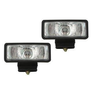 Pilot Automtoive 2 x 6 H3 55 watt Black Housing Clear Driving Lights NV-105