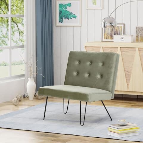 Darrow Modern Velvet Armless Chair by Christopher Knight Home