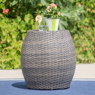 Canary Outdoor 14-inch Wicker Side Table by Christopher Knight Home