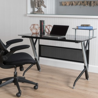 Valeta Tempered Glass Computer Desk by Christopher Knight Home