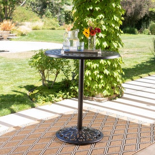 Arlana Outdoor Aluminum Bar Table with Umbrella Hole by Christopher Knight Home