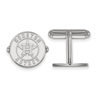 Sterling Silver Houston Astros Cuff Link