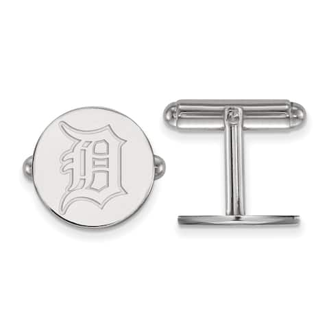Versil Sterling Silver Detroit Tigers Cuff Link