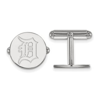 Sterling Silver Detroit Tigers Cuff Link