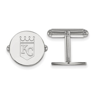 Sterling Silver Kansas City Royals Cuff Link