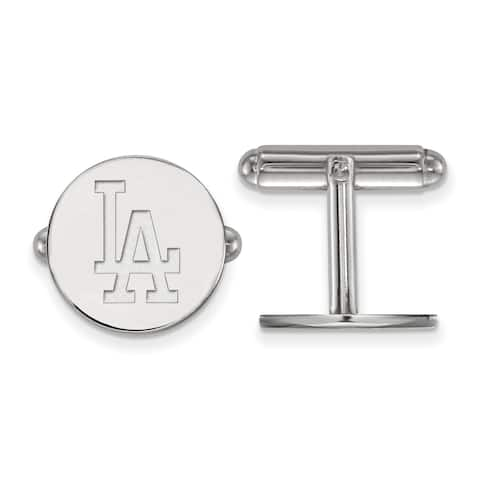 Versil Sterling Silver Los Angeles Dodgers Cuff Link