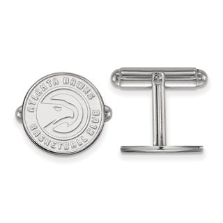 Versil Sterling Silver NBA LogoArt Atlanta Hawks Cuff Link