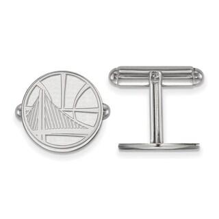 Sterling Silver NBA LogoArt Golden State Warriors Cuff Link